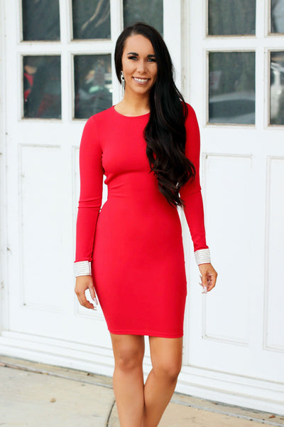 Classy Chic Dress: Red - Bella and Bloom Boutique