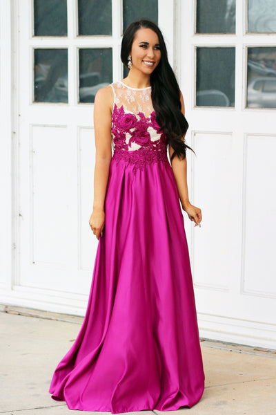 Blair Maxi Dress: Fuschia - Bella and Bloom Boutique