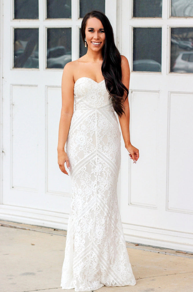 RESTOCK: Soon to Be Mrs. Maxi Dress: Ivory - Bella and Bloom Boutique