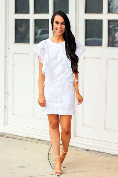 Sweet Spring Dress: White - Bella and Bloom Boutique