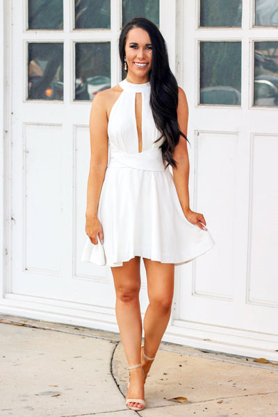 Bachelorette Babe Dress: White - Bella and Bloom Boutique