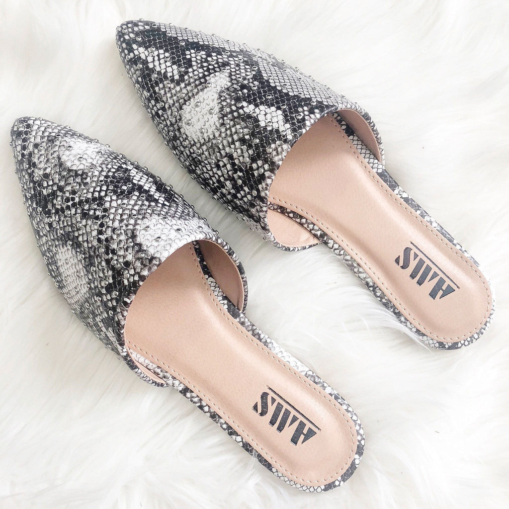 RESTOCK: Veronica Studded Slides: Python - Bella and Bloom Boutique