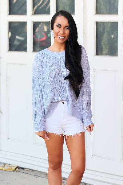 Sweet Spring Sweater: Lavender - Bella and Bloom Boutique
