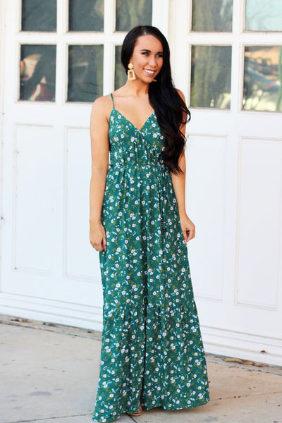 Garden Kisses Maxi Dress: Green - Bella and Bloom Boutique