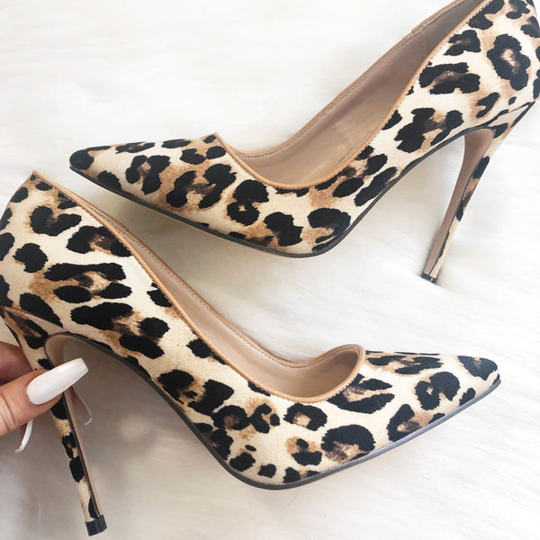 Tamica Heels: Leopard - Bella and Bloom Boutique