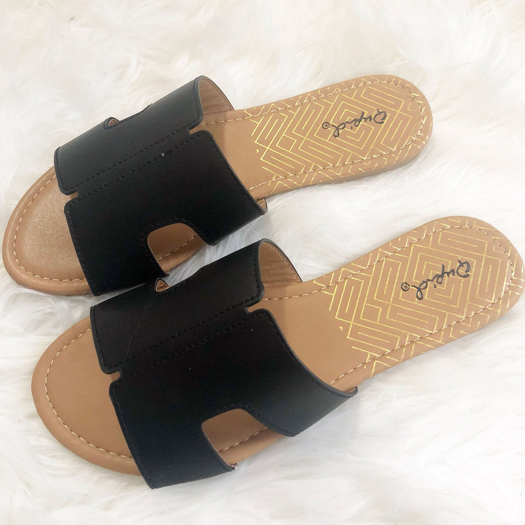 Hailey Sandals: Black - Bella and Bloom Boutique