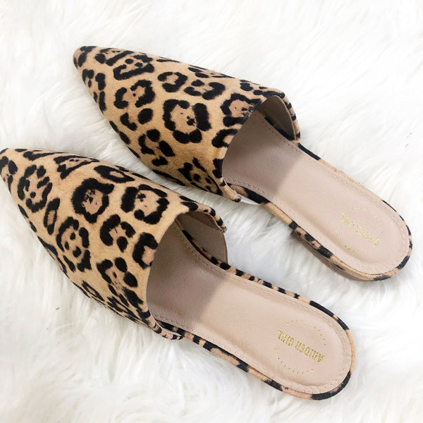 RESTOCK: Raleigh Leopard Slides: Leopard Suede - Bella and Bloom Boutique