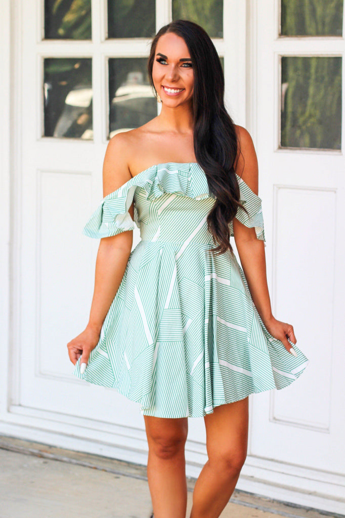 RESTOCK: Next Time Around Dress: Green - Bella and Bloom Boutique