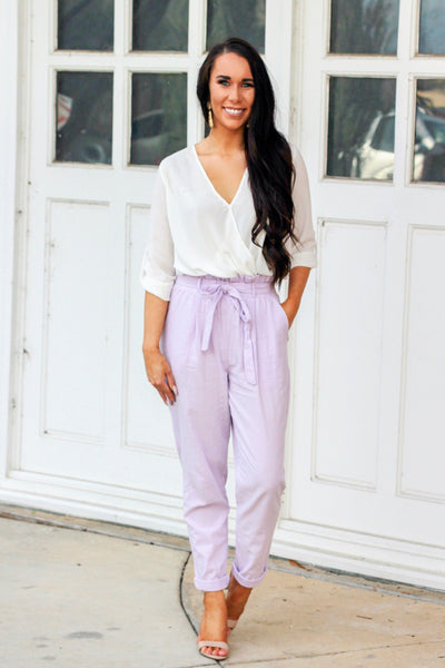 Run the Show Pants: Lavender - Bella and Bloom Boutique