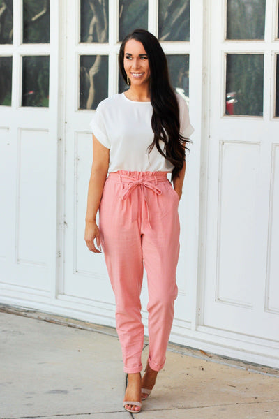 Run the Show Pants: Coral - Bella and Bloom Boutique