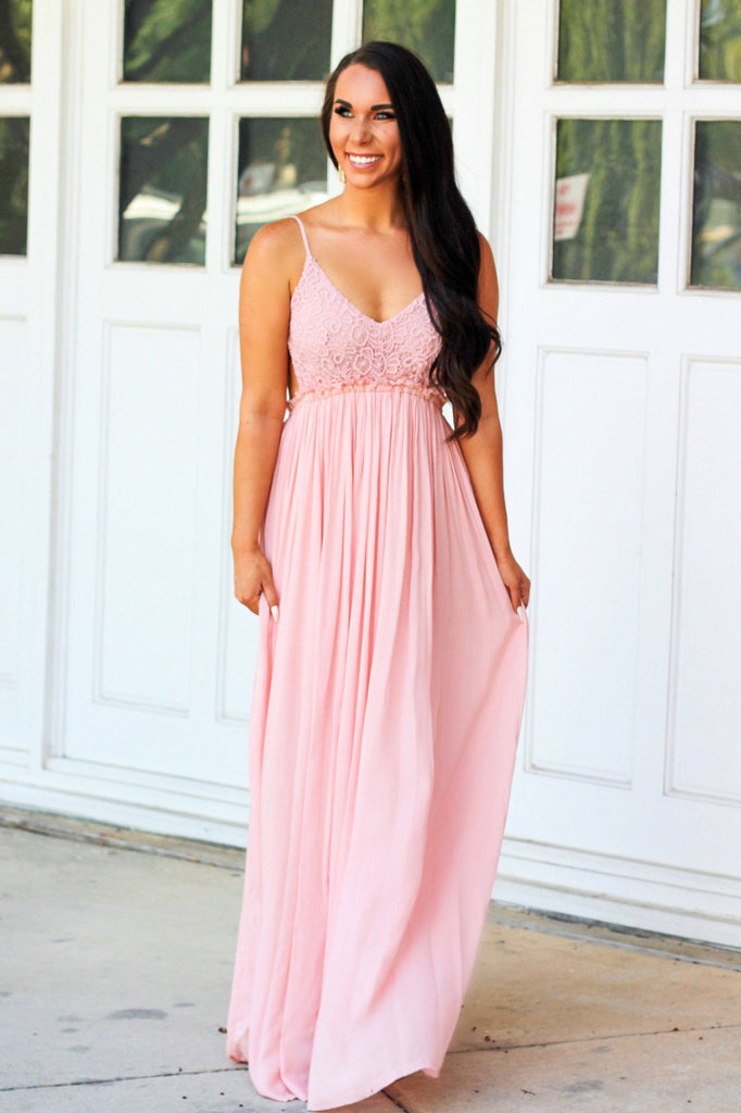 RESTOCK: Love Me Tender Maxi Dress: Light Pink - Bella and Bloom Boutique