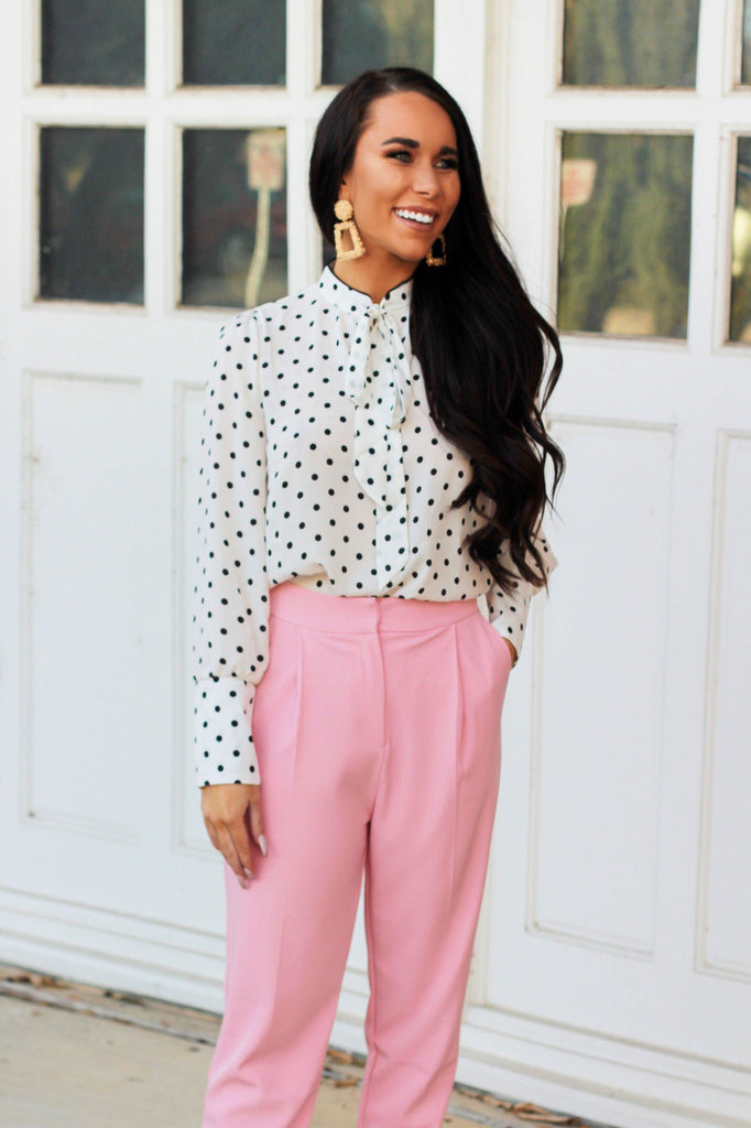 RESTOCK: Seeing Spots Top: White/Black - Bella and Bloom Boutique