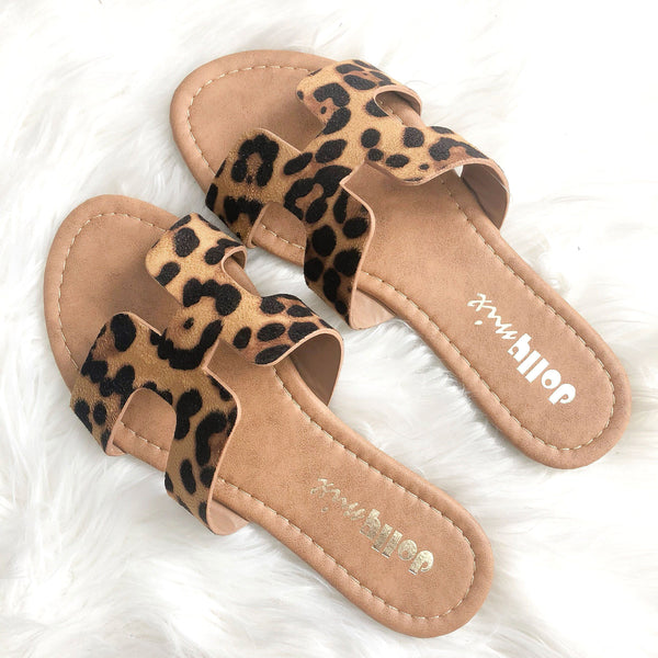 RESTOCK: Alayna Sandals: Leopard - Bella and Bloom Boutique