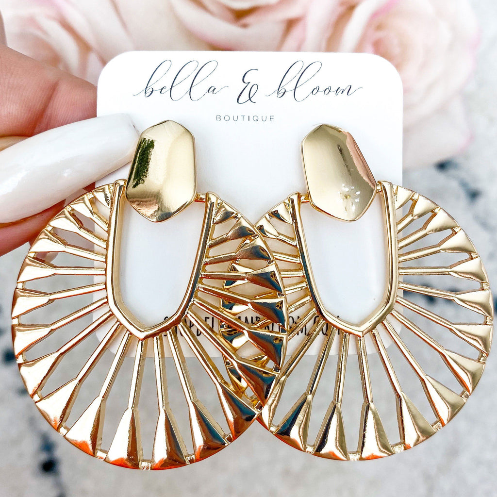 Evelyn Earrings: Gold - Bella and Bloom Boutique