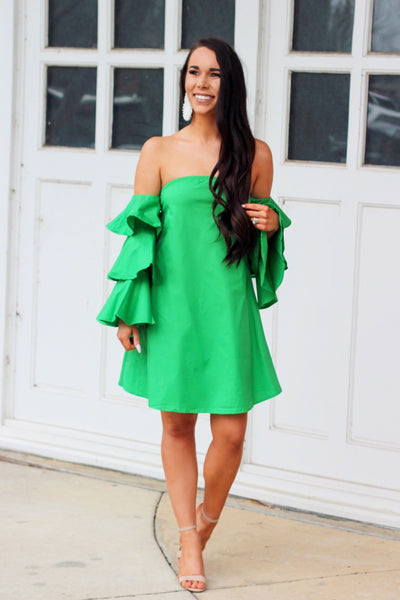 Finally Spring Dress: Kelly Green - Bella and Bloom Boutique