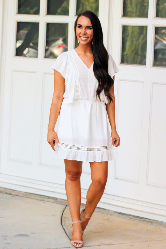 Close to You Dress: Ivory - Bella and Bloom Boutique