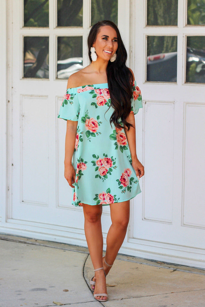 RESTOCK: May Flowers Dress: Mint - Bella and Bloom Boutique