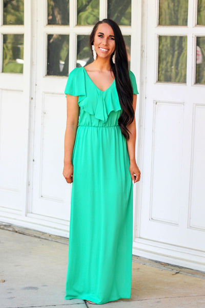 RESTOCK: Lovely Day Maxi Dress: Kelly Green - Bella and Bloom Boutique