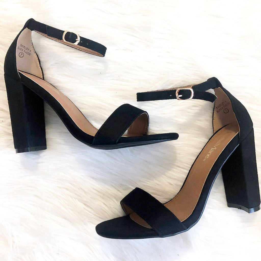 RESTOCK: Erika Block Heels: Black - Bella and Bloom Boutique