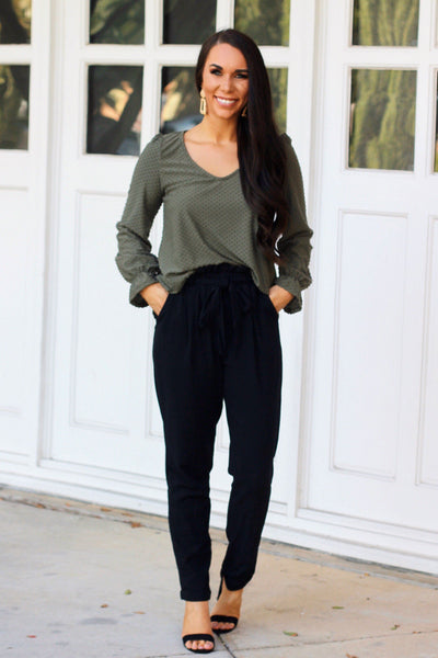 Run the Show Pants: Black - Bella and Bloom Boutique