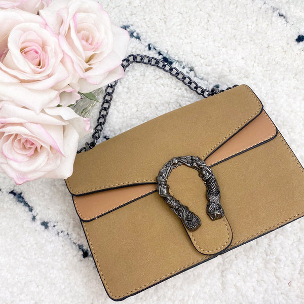 Casey Crossbody Bag: Camel - Bella and Bloom Boutique
