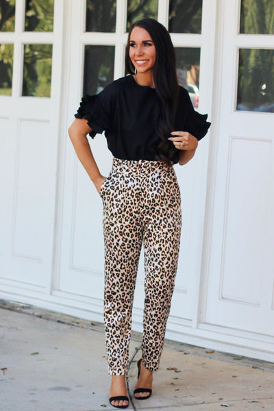 Wild Chic Pants: Leopard - Bella and Bloom Boutique