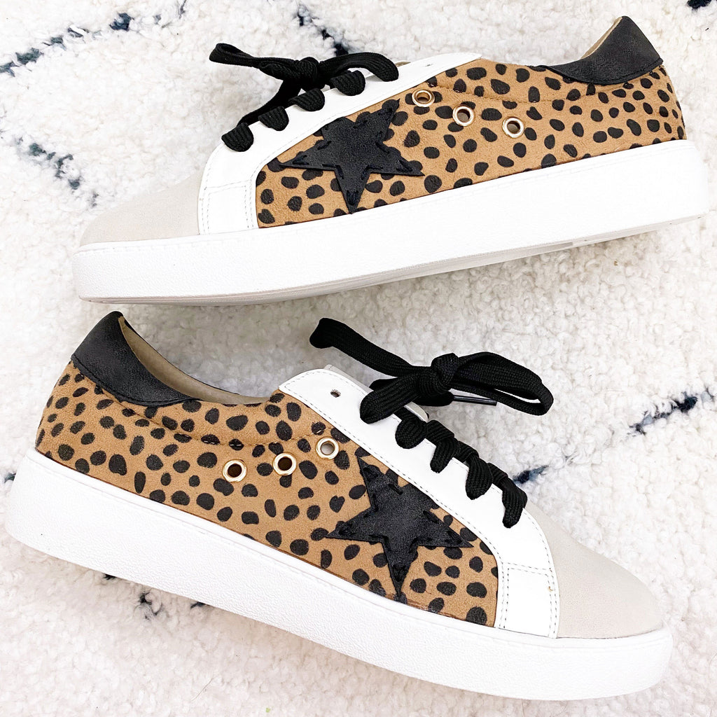 Star Sneakers: Cheetah - Bella and Bloom Boutique