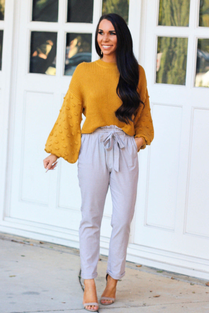 Don't Mind Me Pants: Khaki/White - Bella and Bloom Boutique