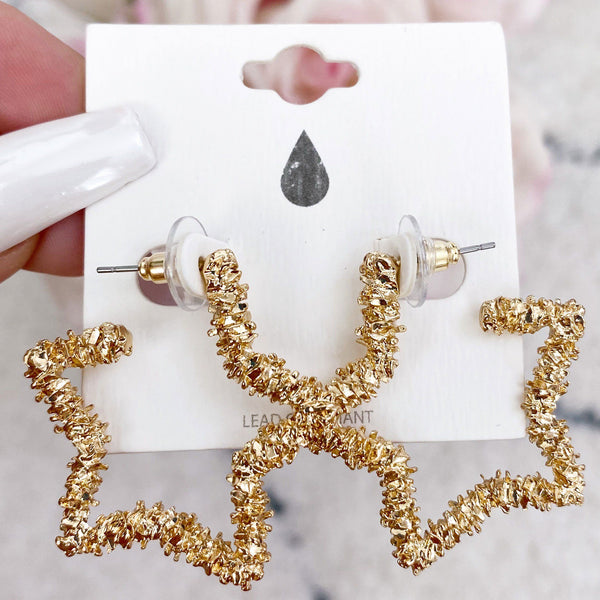 American Girl Earrings: Gold - Bella and Bloom Boutique