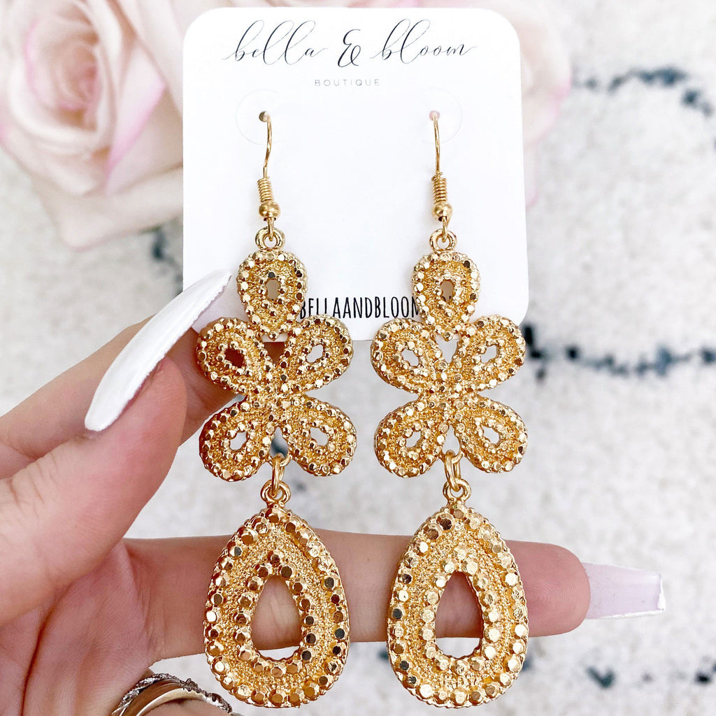 RESTOCK: Stella Earrings: Gold - Bella and Bloom Boutique