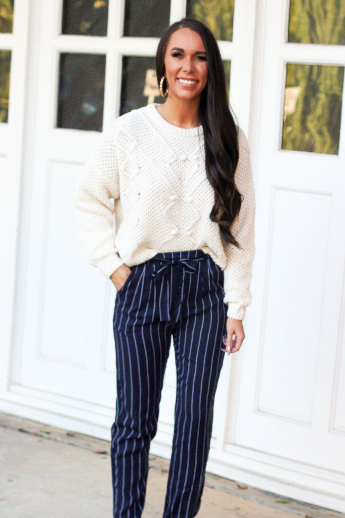 RESTOCK: Cool Nights Cropped Sweater: Ivory - Bella and Bloom Boutique