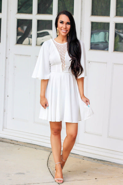 Angel Kiss Dress: White - Bella and Bloom Boutique