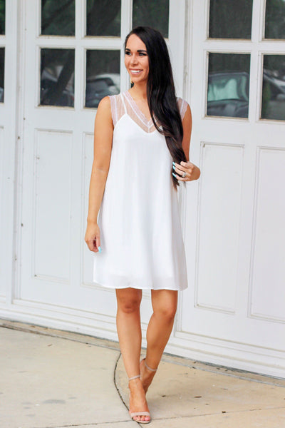 RESTOCK: In Your Dreams Dress: White - Bella and Bloom Boutique
