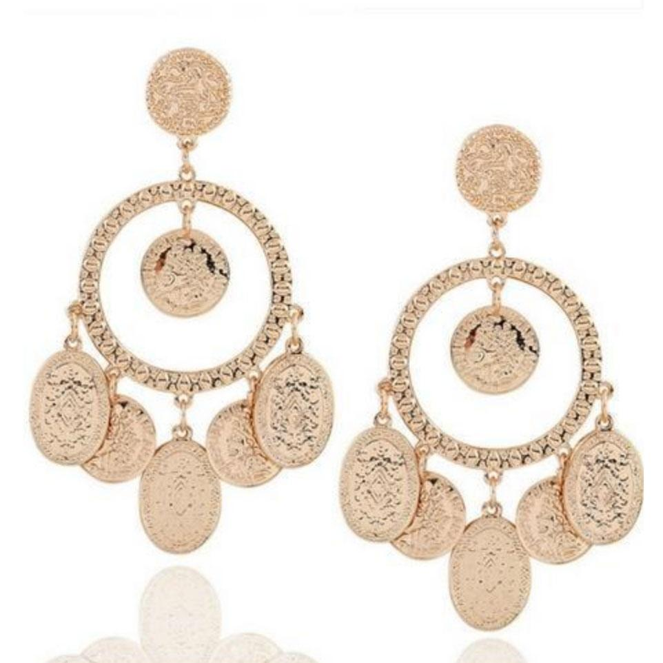 Roman Earrings: Gold - Bella and Bloom Boutique