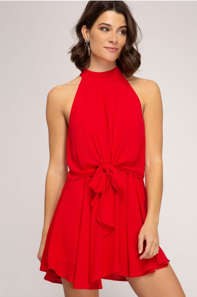 RESTOCK: Adore You Romper: Red - Bella and Bloom Boutique