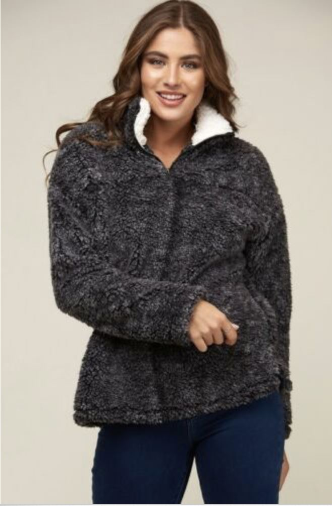 Colder Weather Pullover: Charcoal - Bella and Bloom Boutique