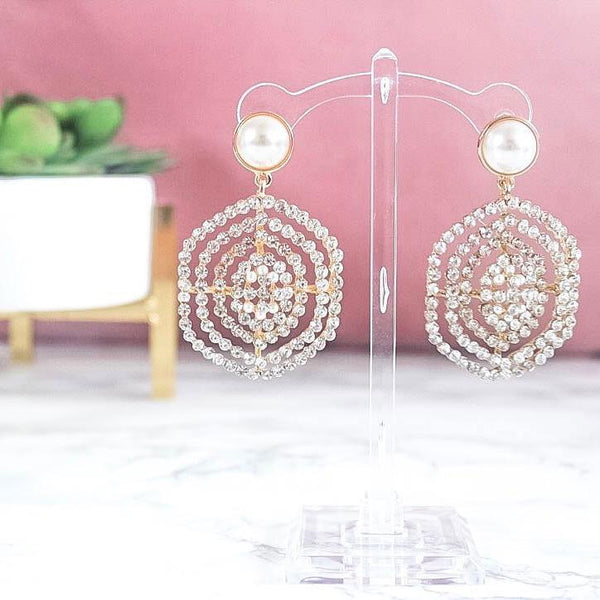 RESTOCK: So In Love Earrings: Crystal/Pearl - Bella and Bloom Boutique