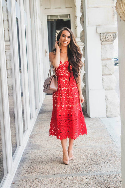 Always and Forever Dress: Red