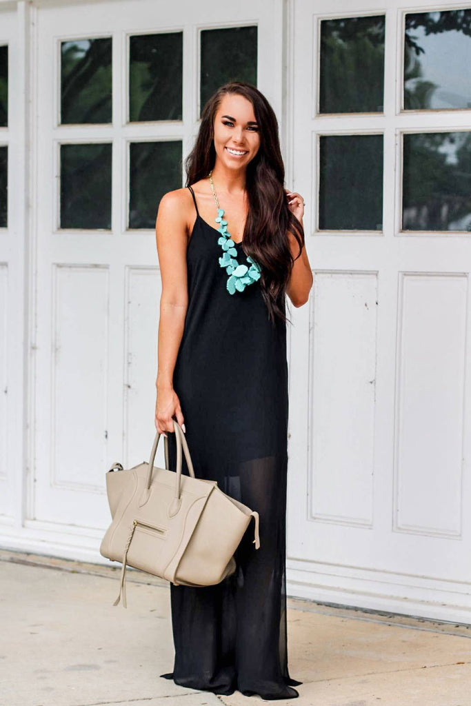 Harlow Maxi Dress: Black - Bella and Bloom Boutique