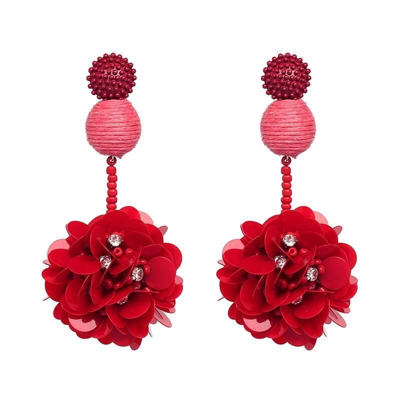 Wildest Dreams Earrings: Red - Bella and Bloom Boutique