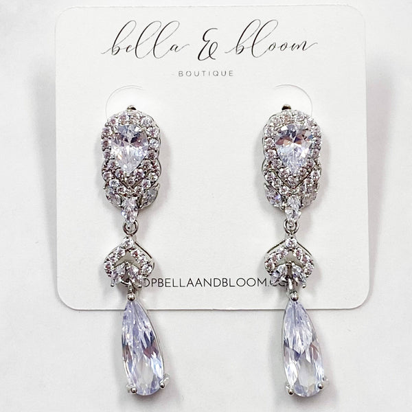 Eternally Yours Earrings: Silver - Bella and Bloom Boutique