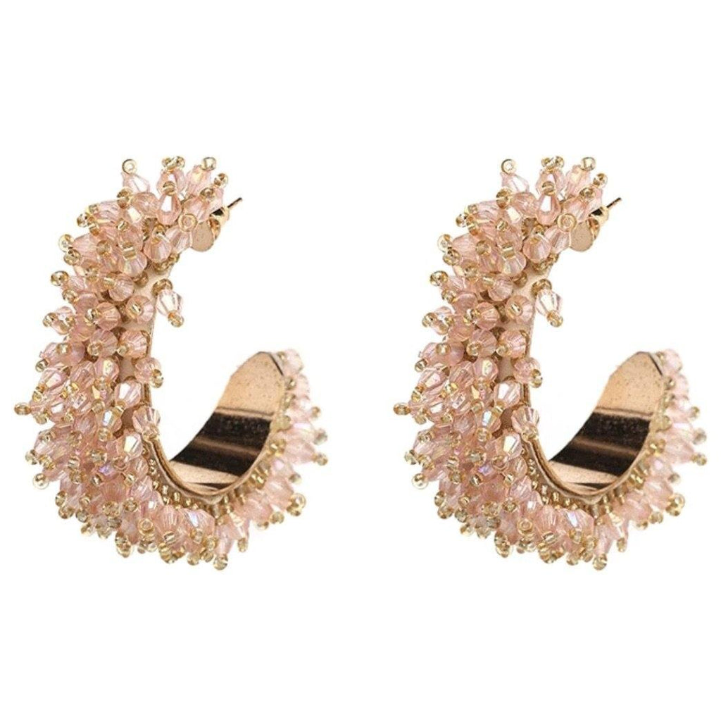 Merry Go Round Earrings: Blush - Bella and Bloom Boutique
