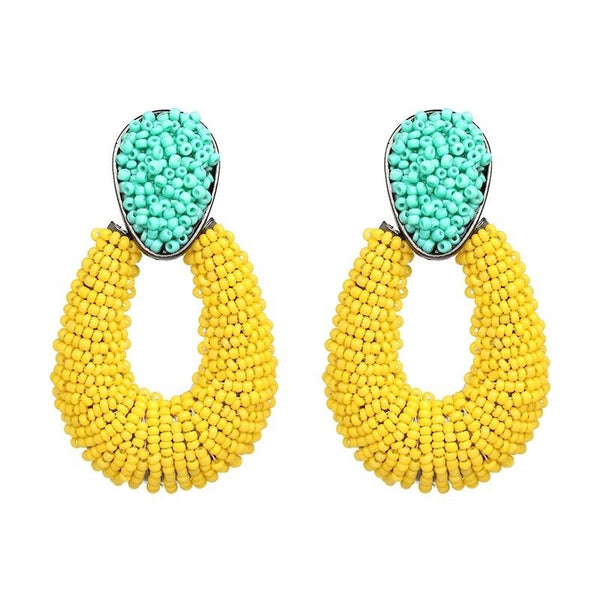 Cape Cod Earrings: Yellow/Green - Bella and Bloom Boutique