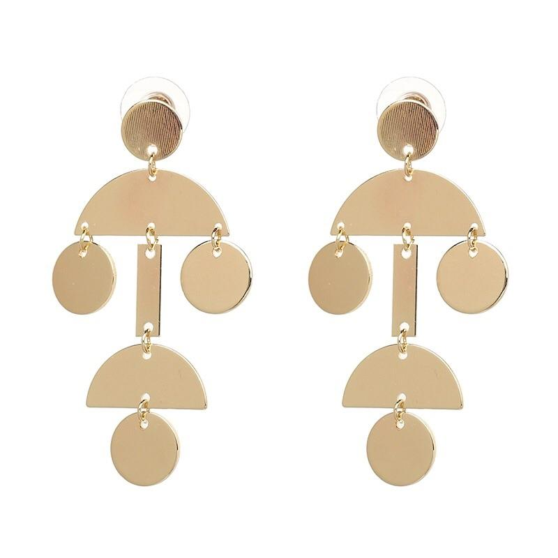Geometric Love Earrings: Gold - Bella and Bloom Boutique