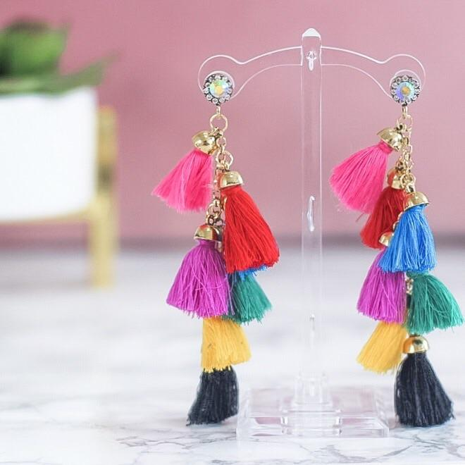 RESTOCK: Tequila Sunrise Earrings: Multi - Bella and Bloom Boutique