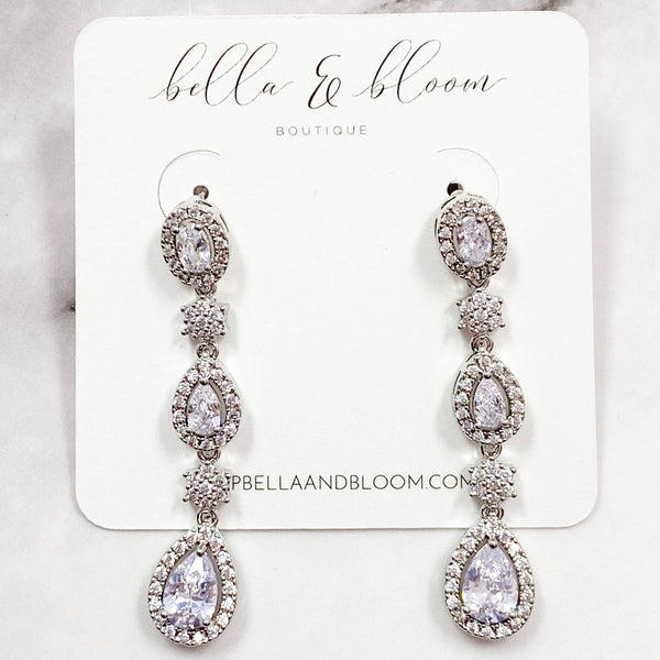 Happily Ever After Earrings: Silver - Bella and Bloom Boutique