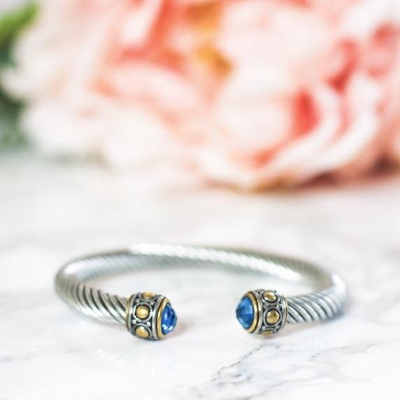 Everyday Essential Bangle: Blue - Bella and Bloom Boutique