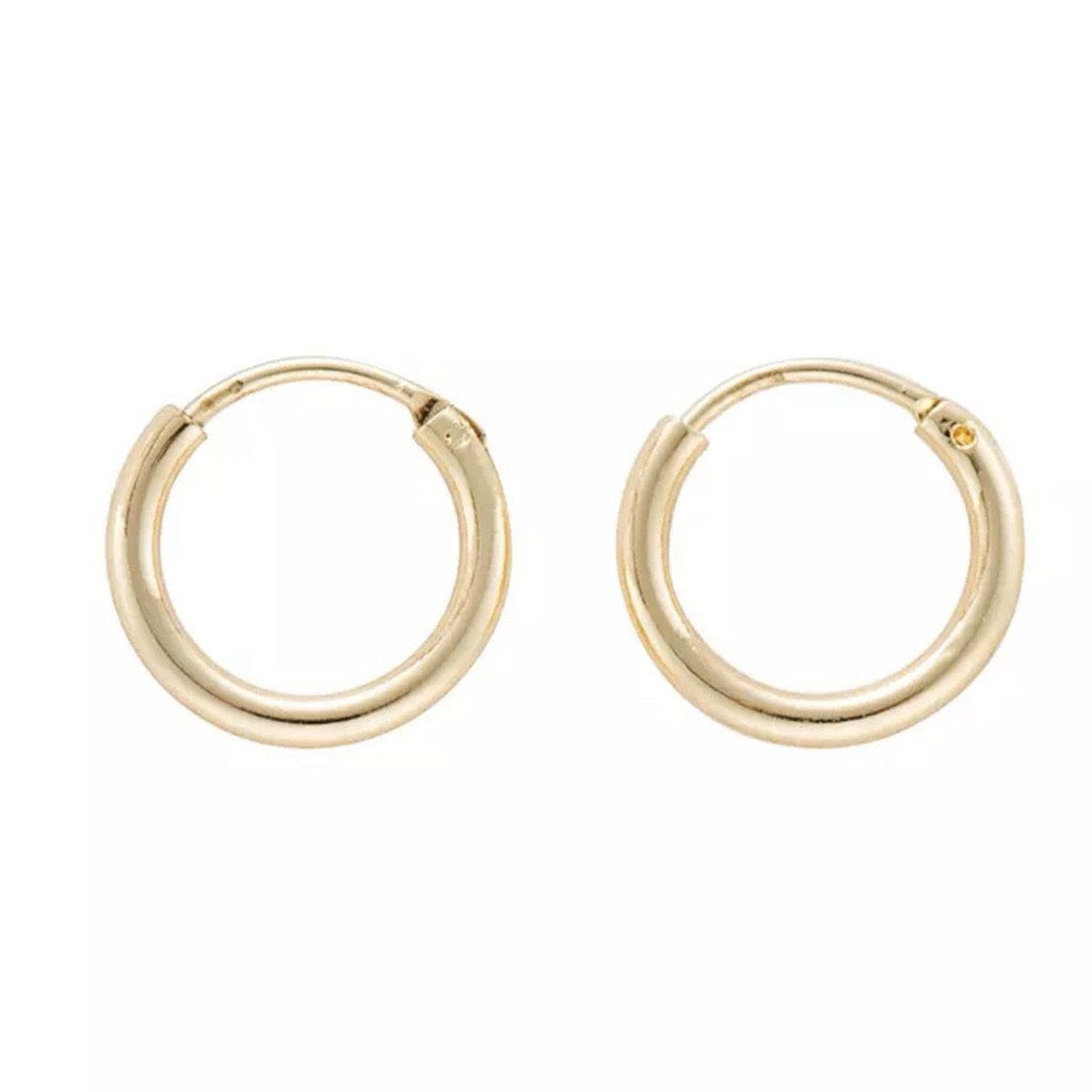 RESTOCK: Classic Huggie Hoop Earrings: Gold - Bella and Bloom Boutique