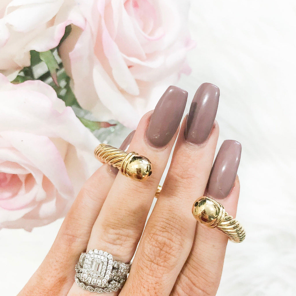 RESTOCK: Simple Chord Miniature Bangle: Gold - Bella and Bloom Boutique