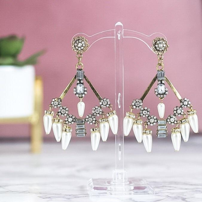 Glamour Earrings: Antique Gold - Bella and Bloom Boutique